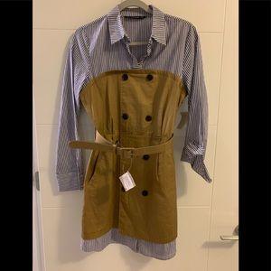 Zara size small trench dress layered sz S